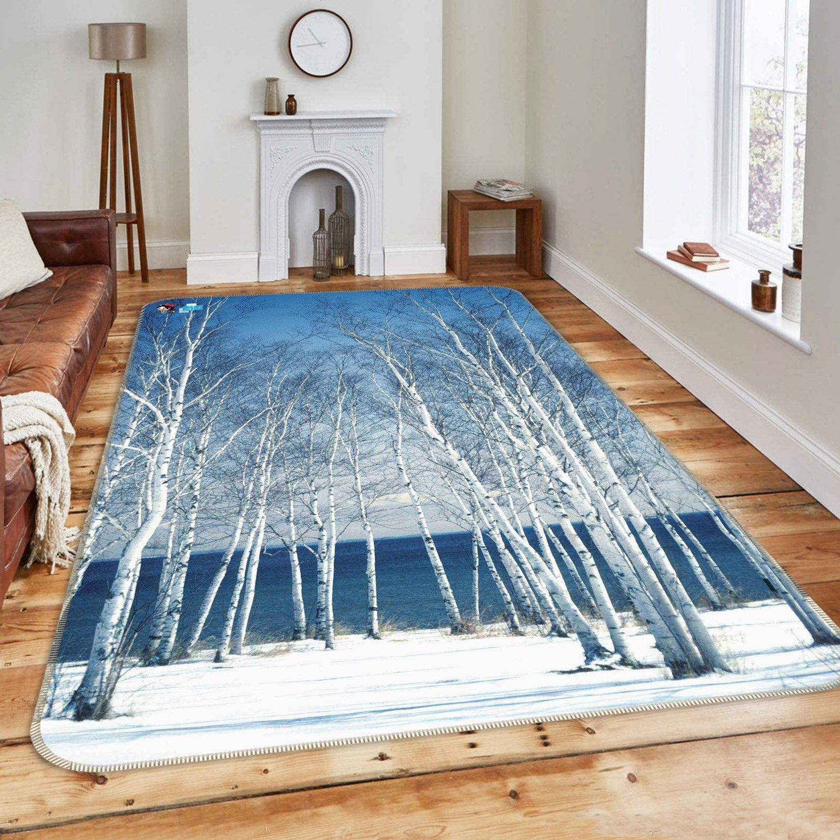 3D Seaside Bare Trees 147 Non Slip Rug Mat Mat AJ Creativity Home
