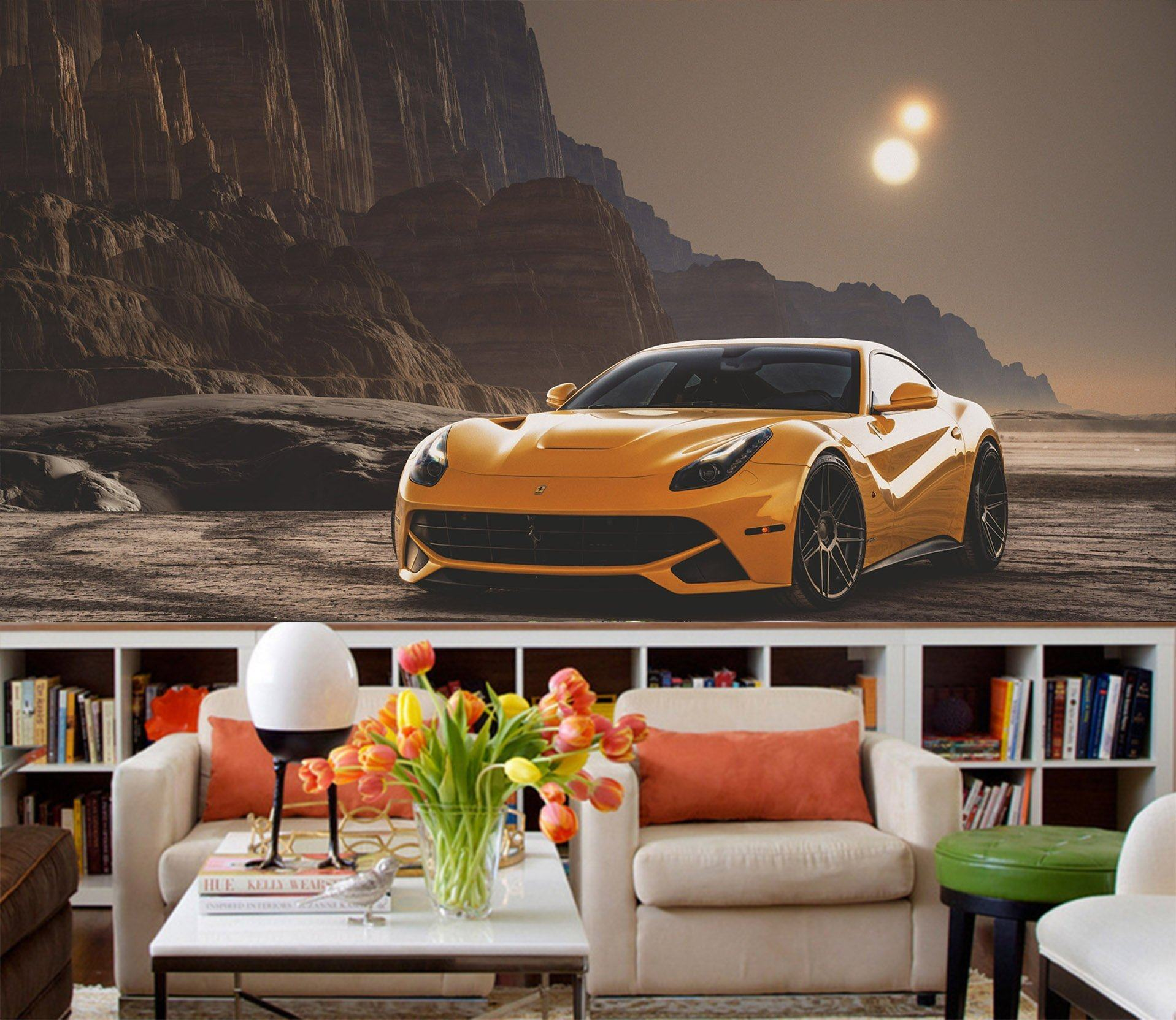 3D Night Car 950 Vehicle Wall Murals