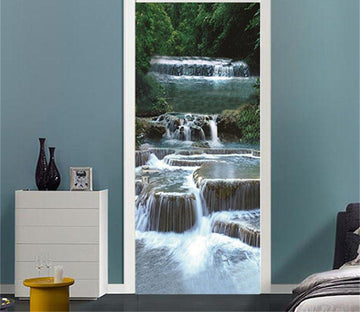 3D clear wide river door mural Wallpaper AJ Wallpaper