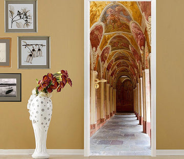 3D beautiful decoration Gallery door mural Wallpaper AJ Wallpaper
