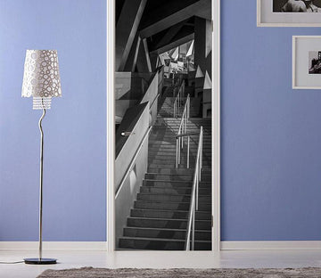 3D apparition overlapping staircase door mural Wallpaper AJ Wallpaper