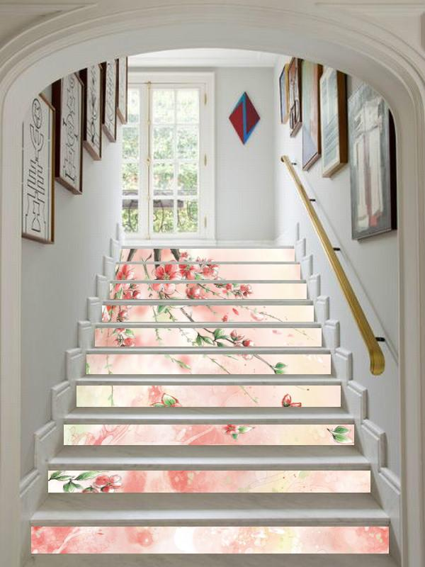 3D Dancing Flowers 6 Stair Risers Wallpaper AJ Wallpaper