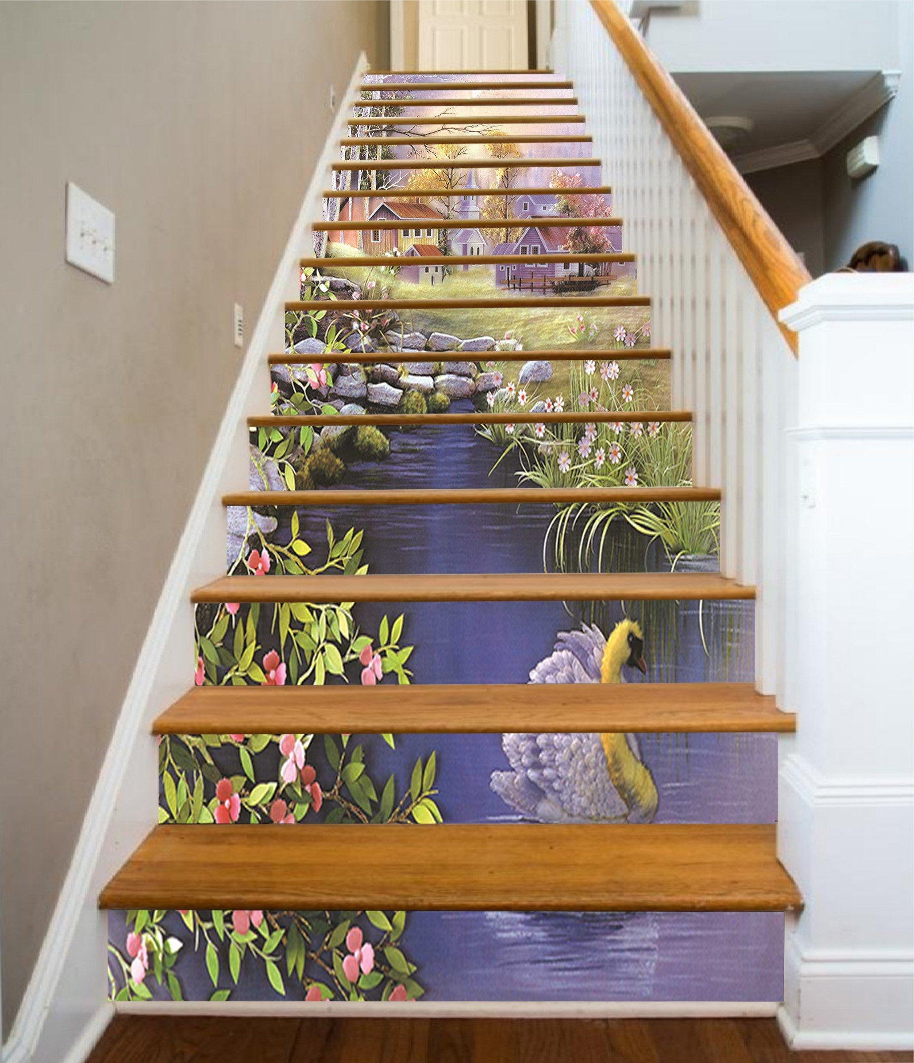 3D Beautiful Village 1320 Stair Risers