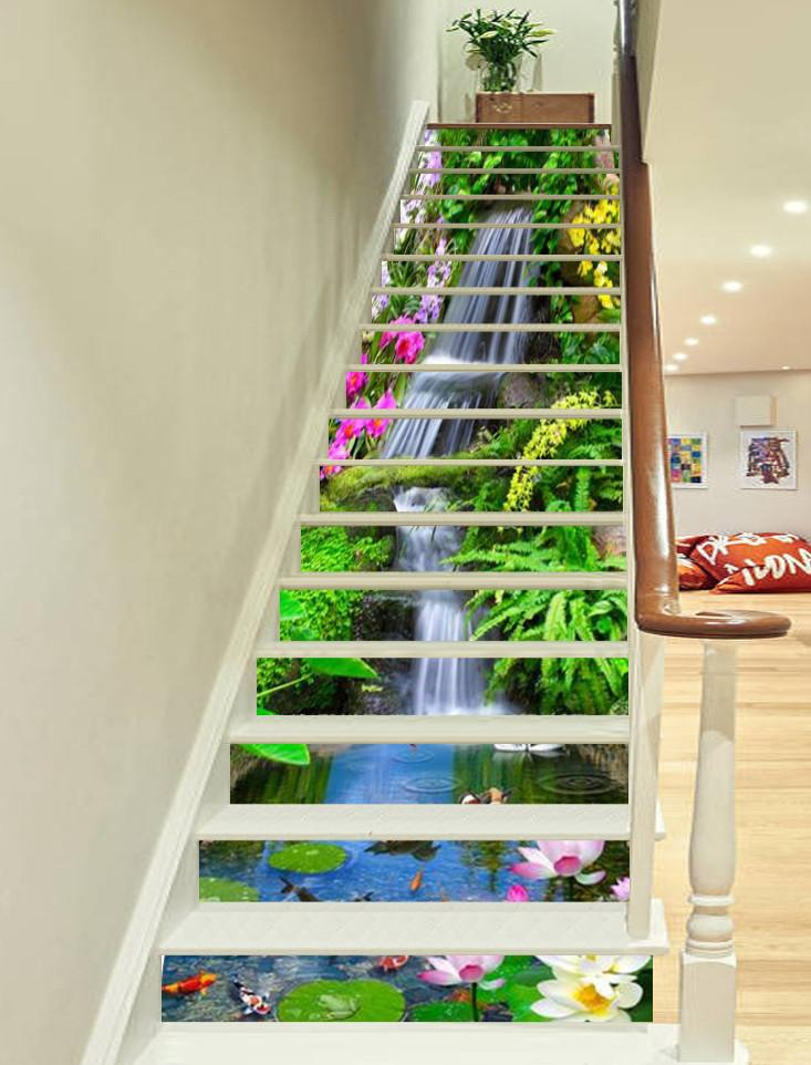 3D Beautiful Stream 569 Stair Risers