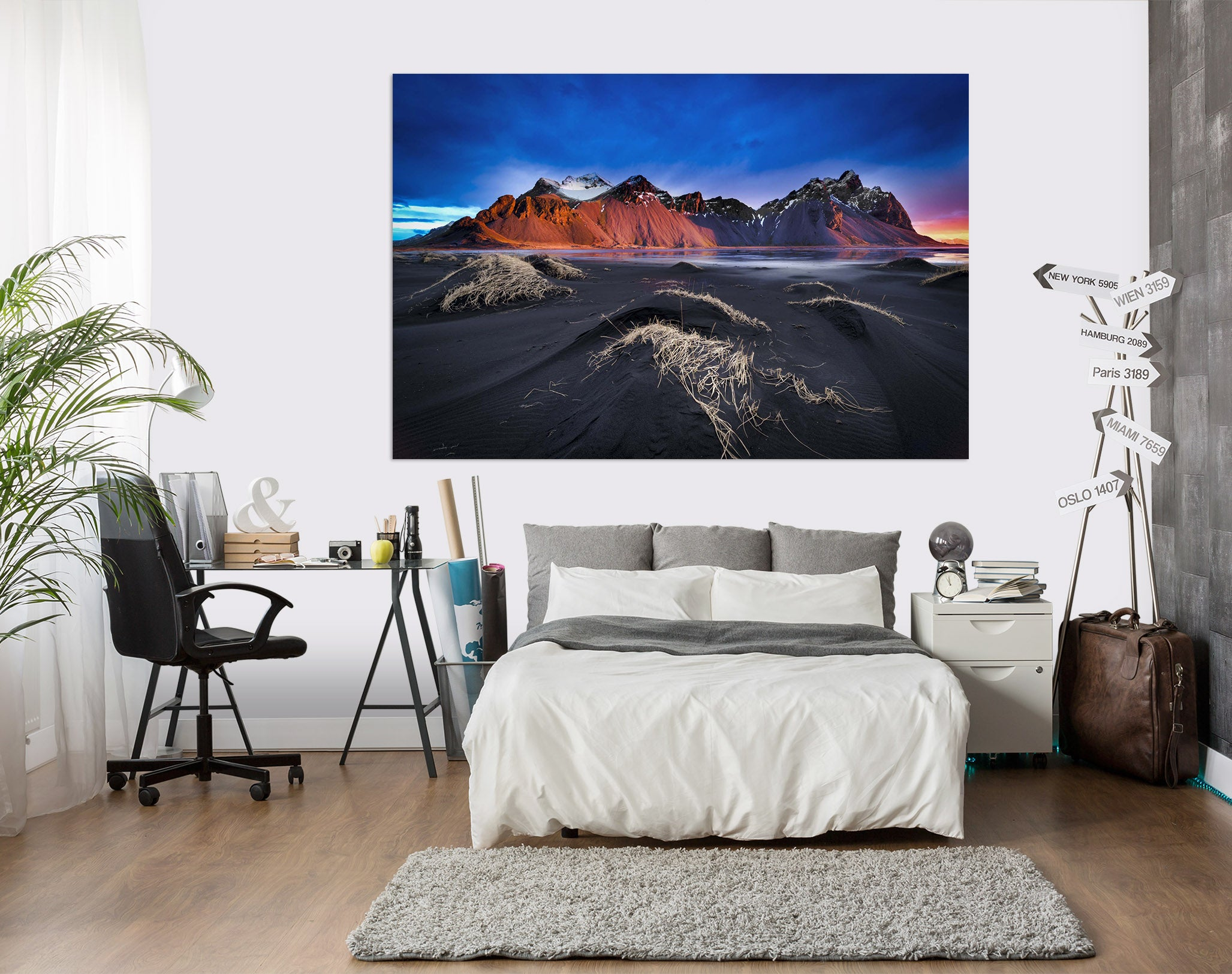3D Red Mountain Peak 216 Marco Carmassi Wall Sticker