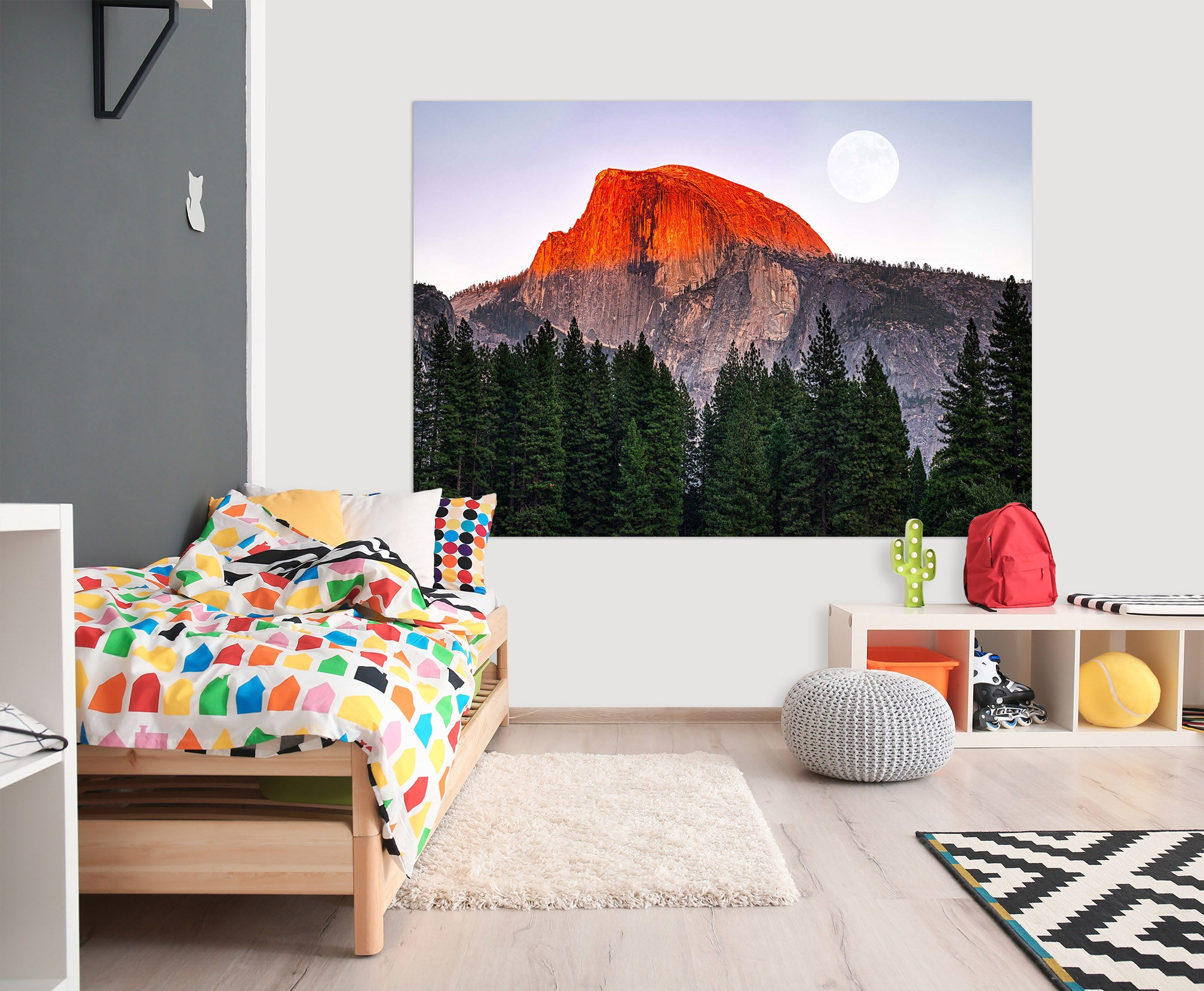 3D Red Valley 225 Marco Carmassi Wall Sticker