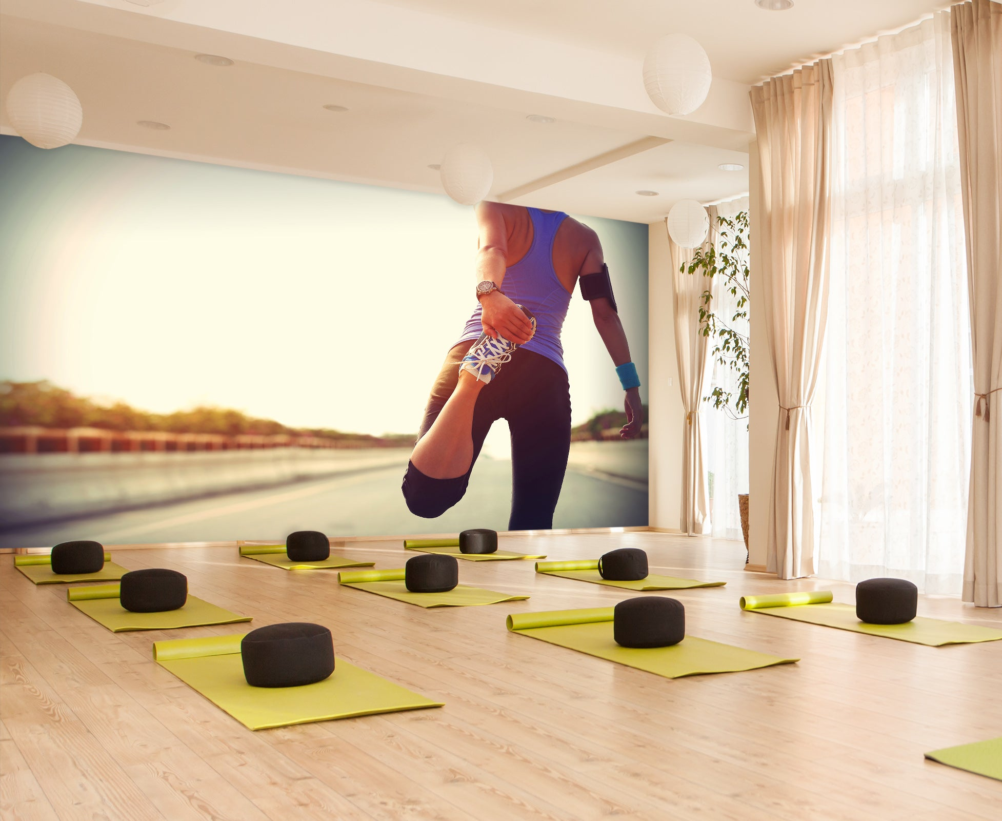 3D Stretching Exercise 255 Wall Murals