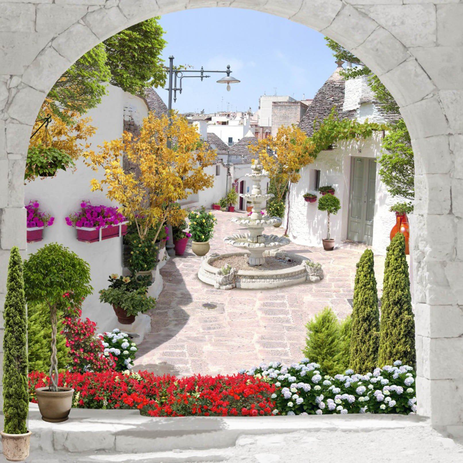 3D Arches Town Scenery 305 Garage Door Mural Wallpaper AJ Wallpaper