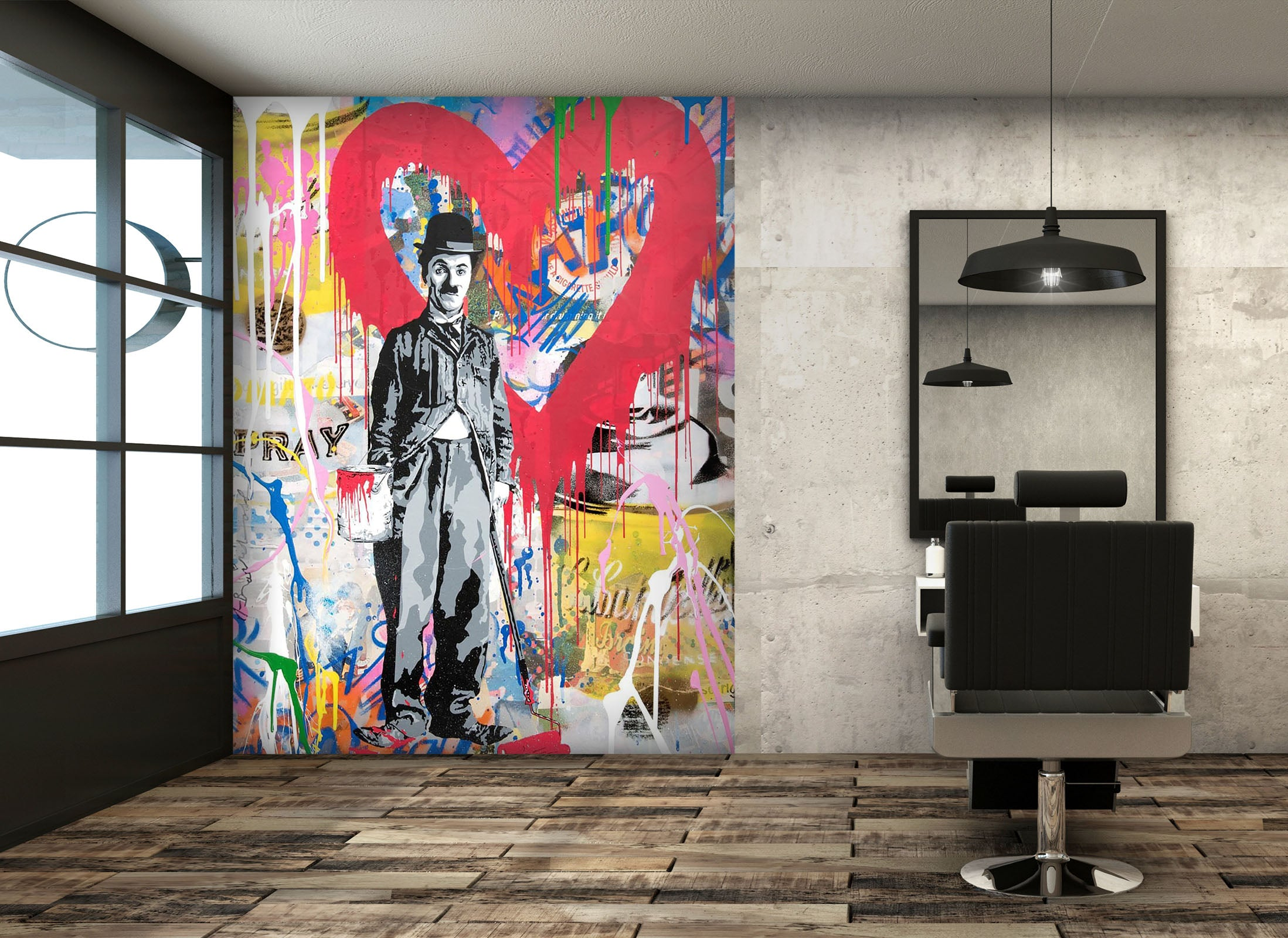 3D Red Love 259 Wall Murals