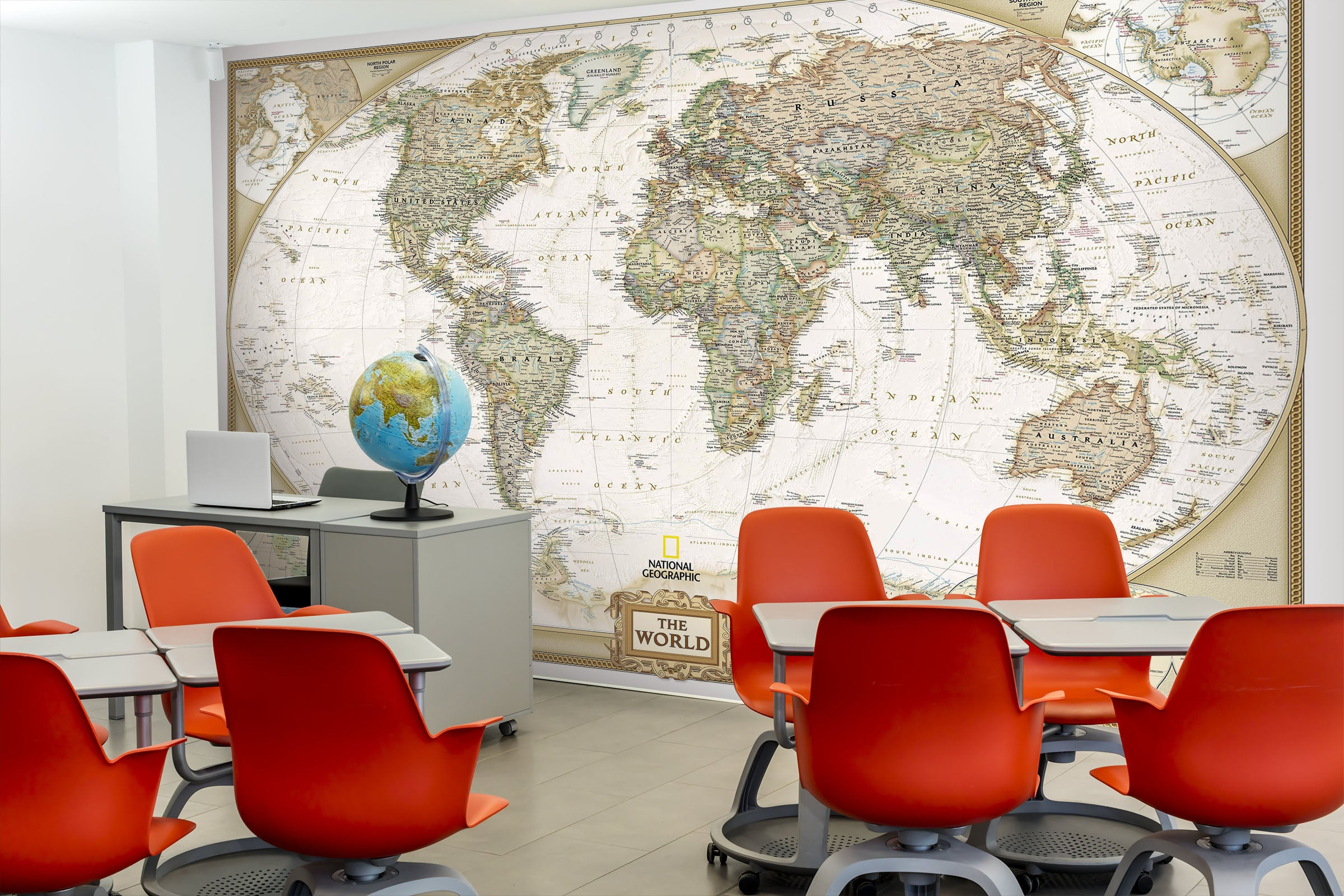 3D World Map 016 Wall Murals