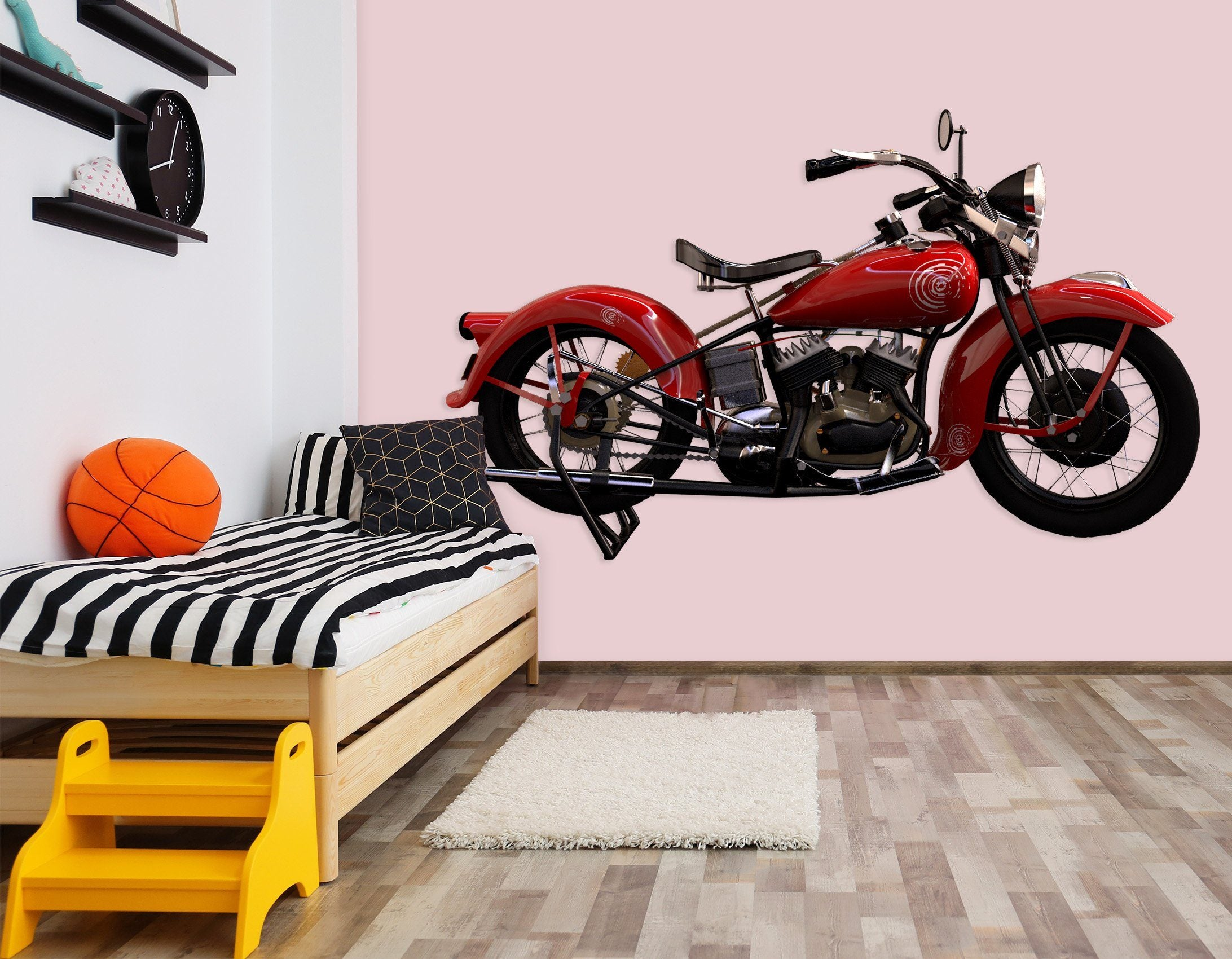 3D Red Motorcycle 222 Vehicles