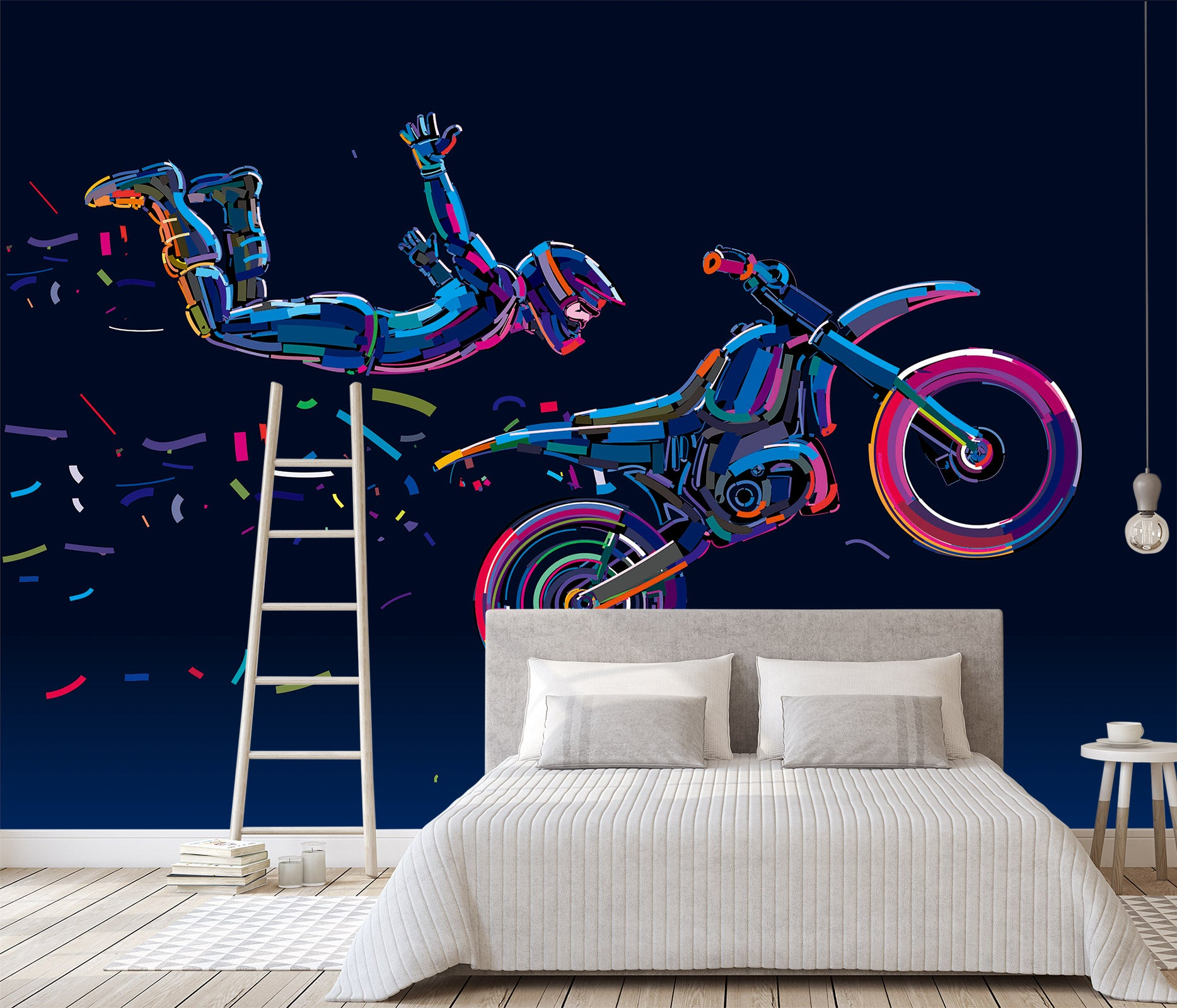 3D Motorcycle Extreme Sports 138 Wall Murals