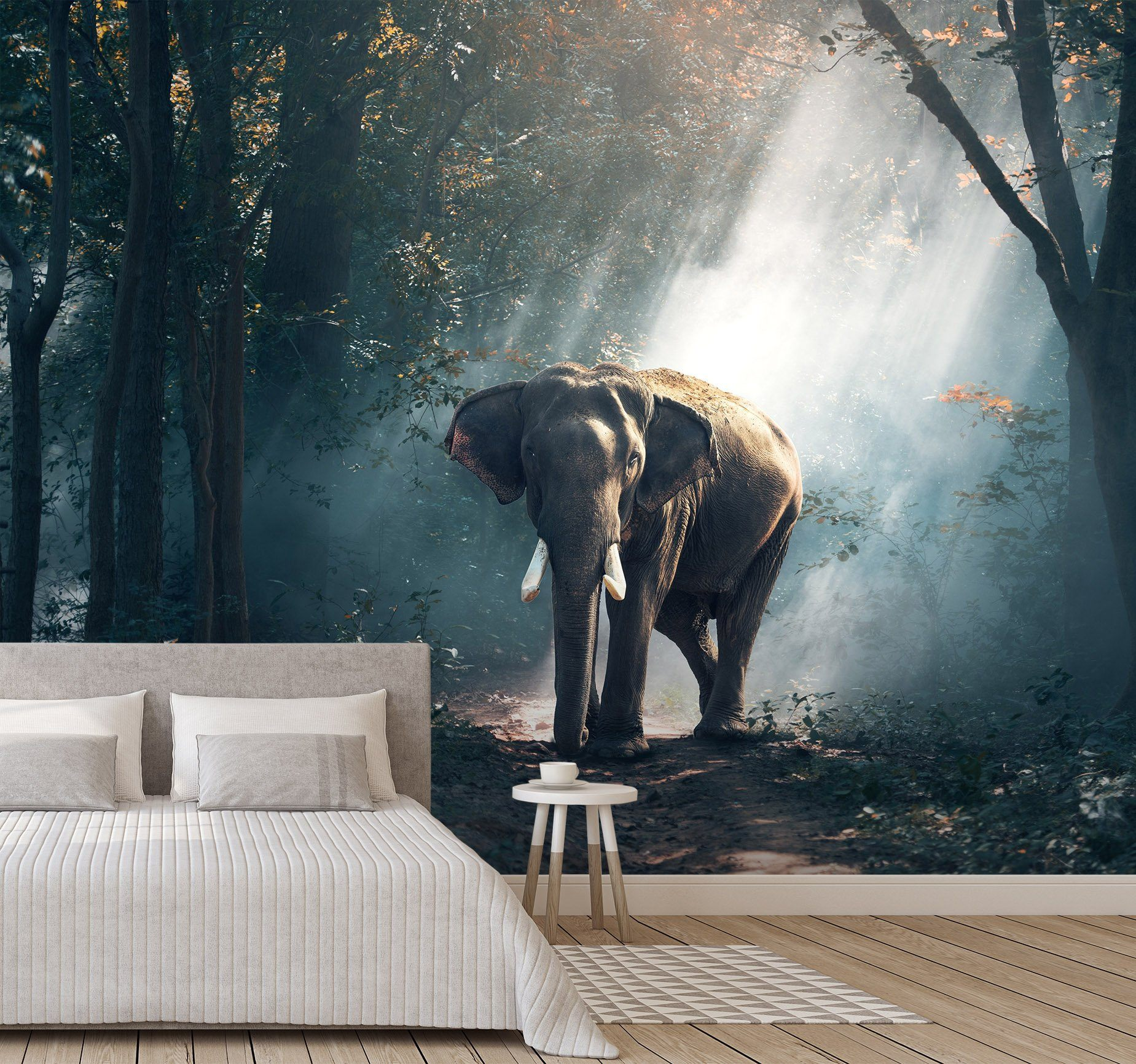 3D Woodland Elephant 651 Wallpaper AJ Wallpaper