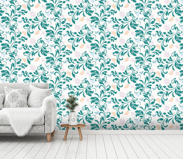 3D Blue Leaf Pattern 613