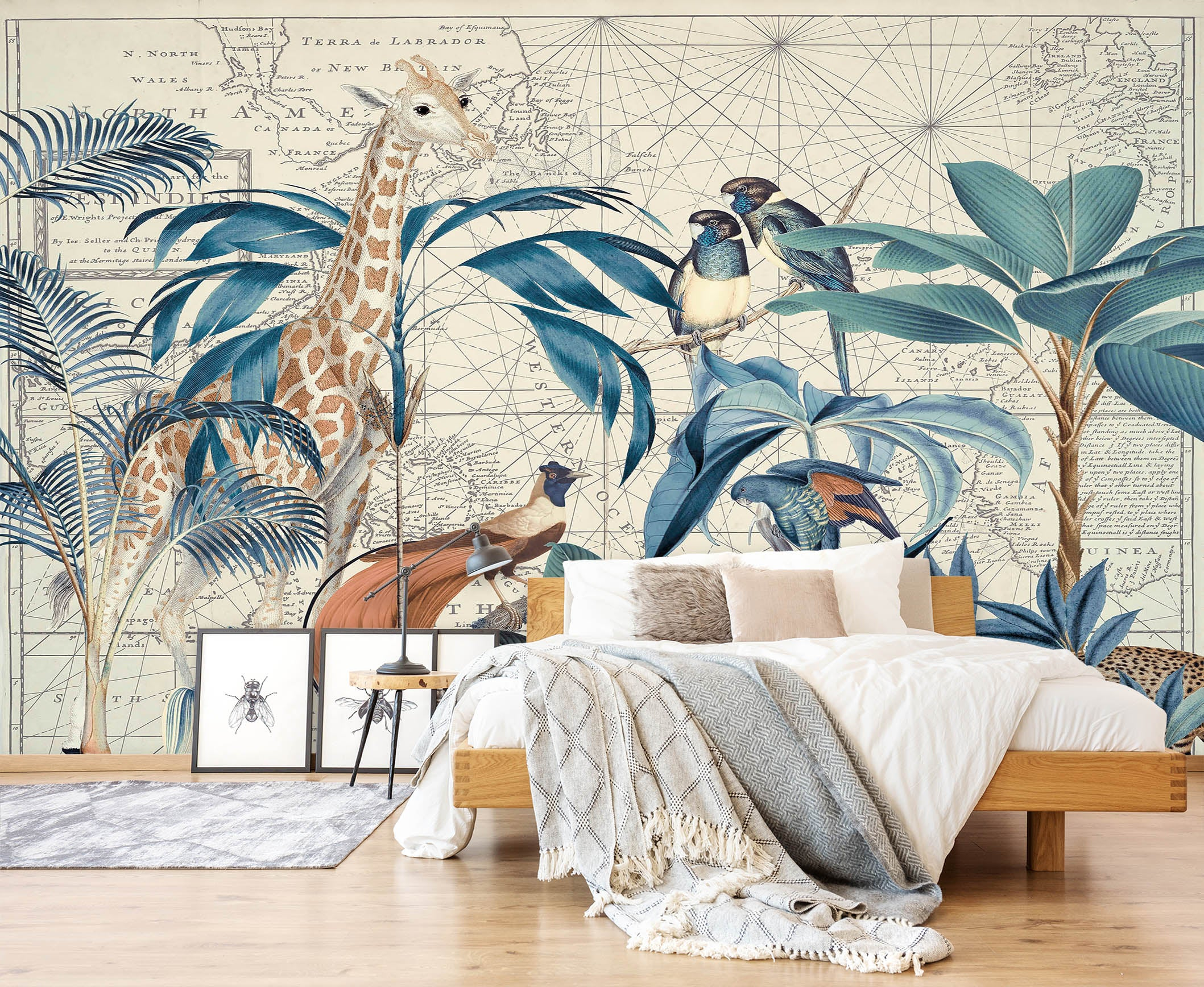 3D Palm Tree Map 1438 Andrea haase Wall Mural Wall Murals