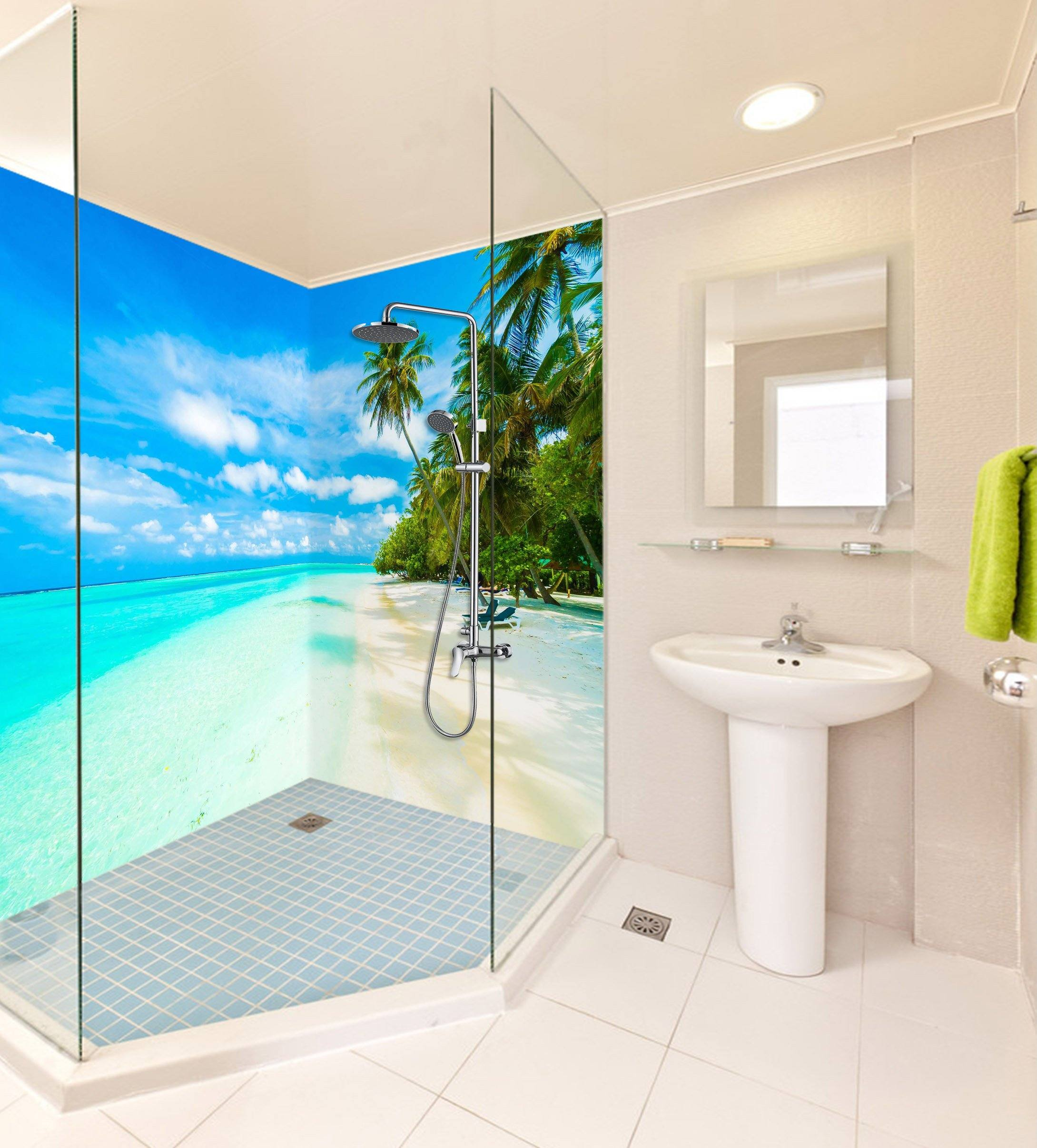 3D Beautiful Sea Scenery 51 Bathroom Wallpaper