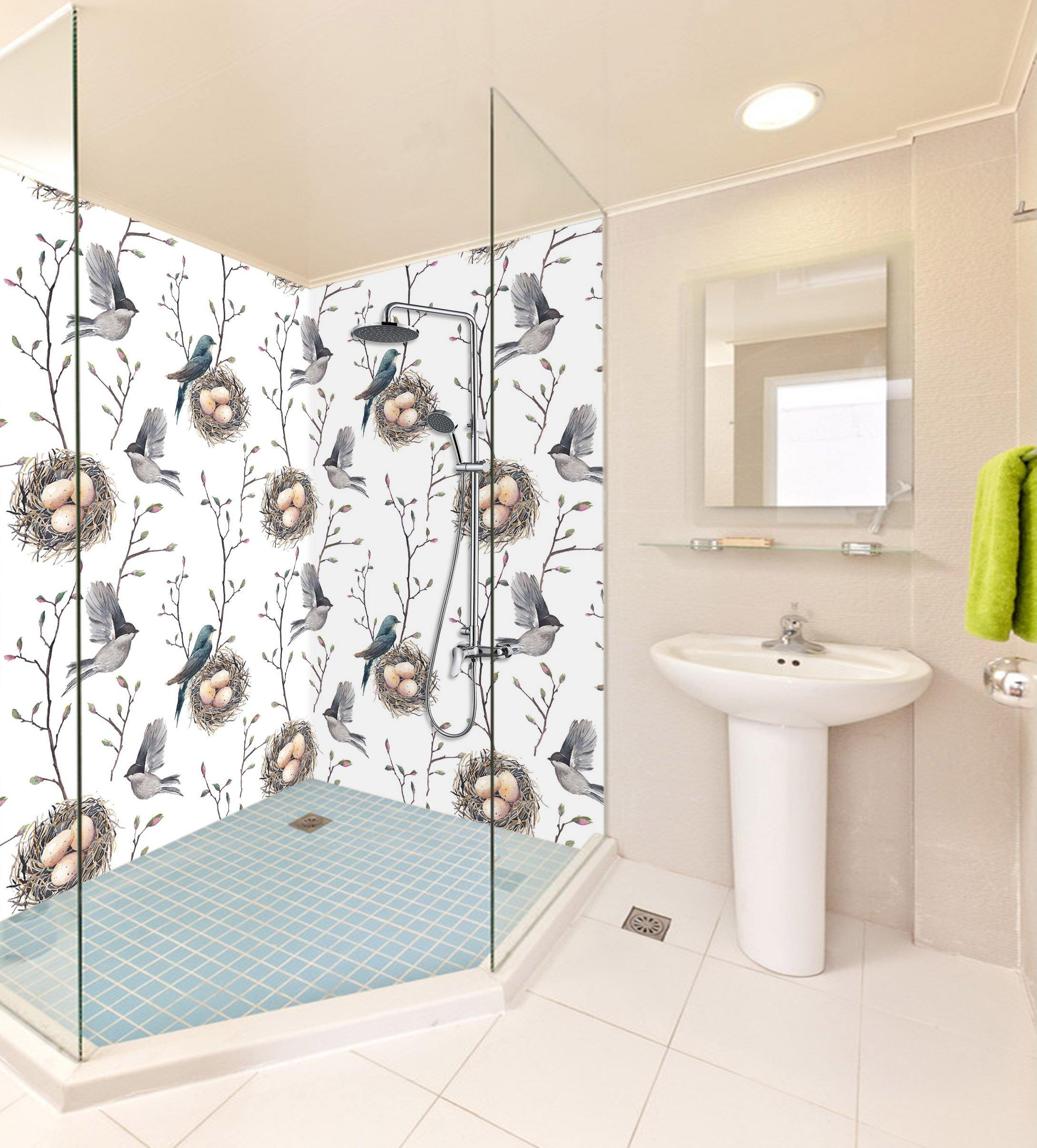 3D Birds Nest Eggs 68 Bathroom Wallpaper