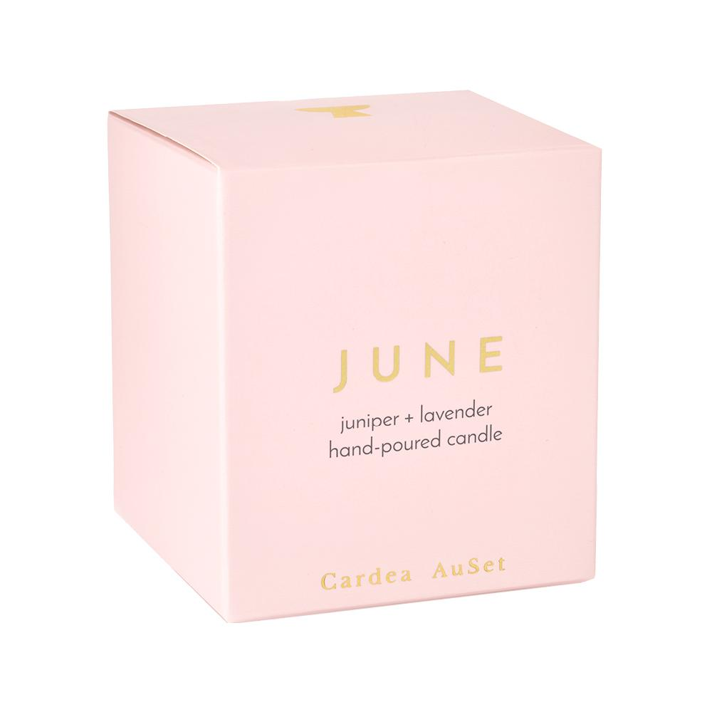 JUNE: JUNIPER + LAVENDER CANDLE
