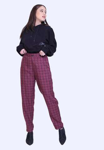 LONG PANTS PLAID BASIC
