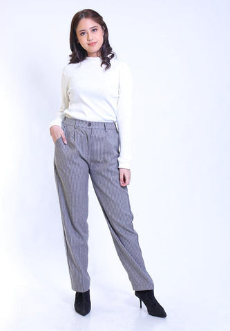 BASIC BAGGY TROUSER STRIPE