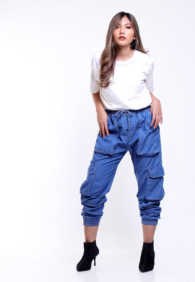 CARGO PANTS HIGH WAIST LOOSE