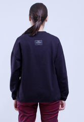 CROP POCKET LOGO PRINT SWEATSHIRT