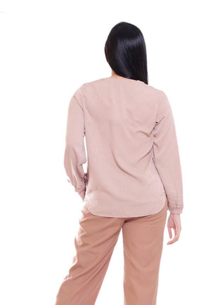 VICTORIA BLOUSE V NECK LONG SLEEVE