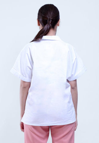 TOP BLOUSE SHORT SLEEVE