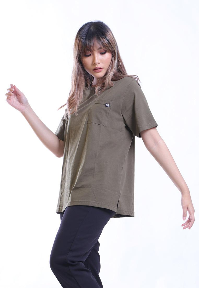 ROUNDED WITH POCKET BASIC T-SHIRT