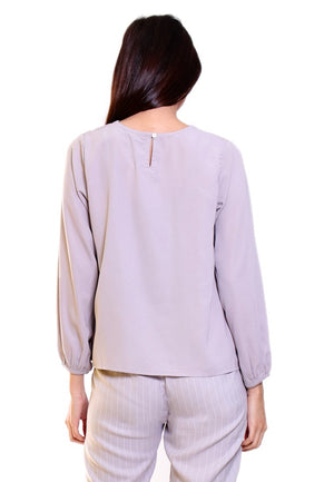 KYLA BLOUSE WITH WRAP - Hardware Clothing