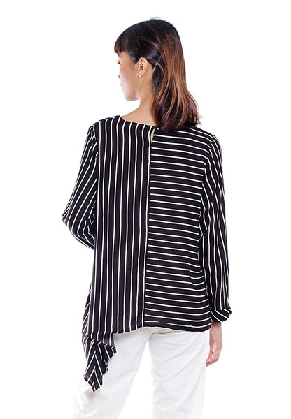 YURI BLOUSE LONG SLEEVE STRIPE