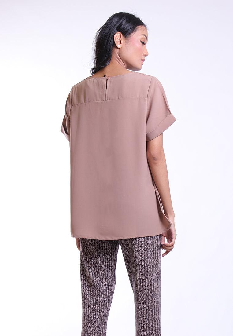 VENTED BLOUSE SHORT SLEEVE