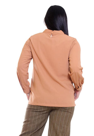 WOLLY BLOUSE HIGH NECK