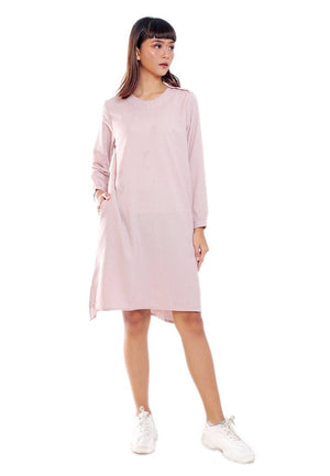 PLAIND MINI DRESS LONGSLEEVE - Hardware Clothing