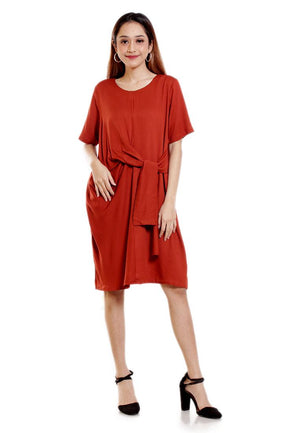 ADILA WRAP MINI DRESS