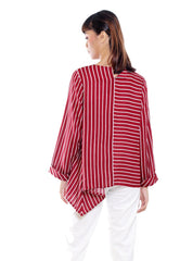 YURI BLOUSE LONG SLEEVE STRIPE - Hardware Clothing