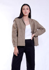 OVERSIZED JACKET PIYAME COLLARE