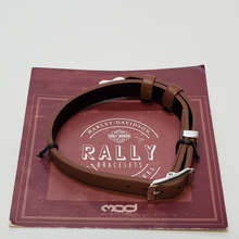 Load image into Gallery viewer, Brown Leather Rally Bracelet in Packaging