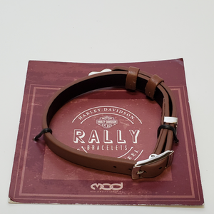 Brown Leather Rally Bracelet in Packaging