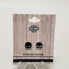 Load image into Gallery viewer, Harley-Davidson Skull Earrings in Packaging