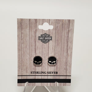 Harley-Davidson Skull Earrings in Packaging