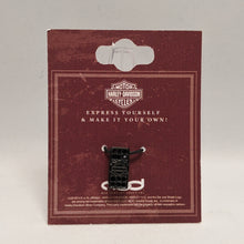 Load image into Gallery viewer, Bar & Shield Rally Charm Black in Packaging