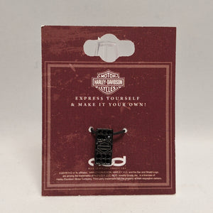 Bar & Shield Rally Charm Black in Packaging