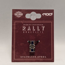 Load image into Gallery viewer, Bar & Shield Rally Charm Blue in Packaging