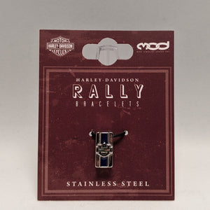 Bar & Shield Rally Charm Blue in Packaging