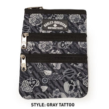 Load image into Gallery viewer, gray tattoo cross body bag