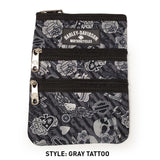 gray tattoo cross body bag