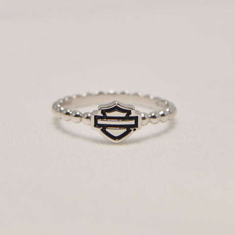 Bar & Shield Ring Silver