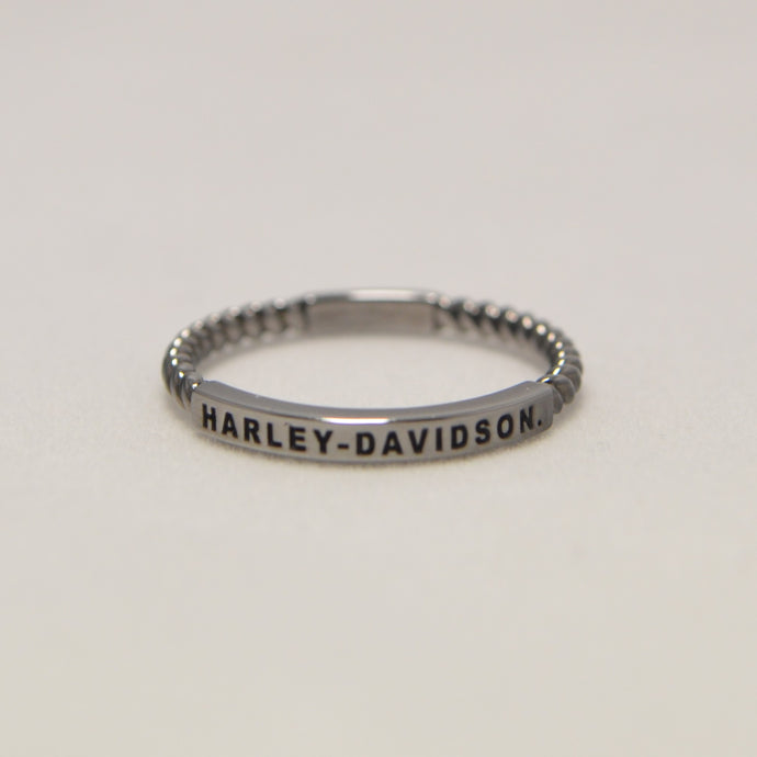 Harley-Davidson® Braided Ring Band Silver