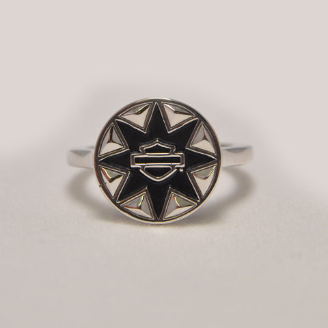 Bar & Shield Tribal Ring